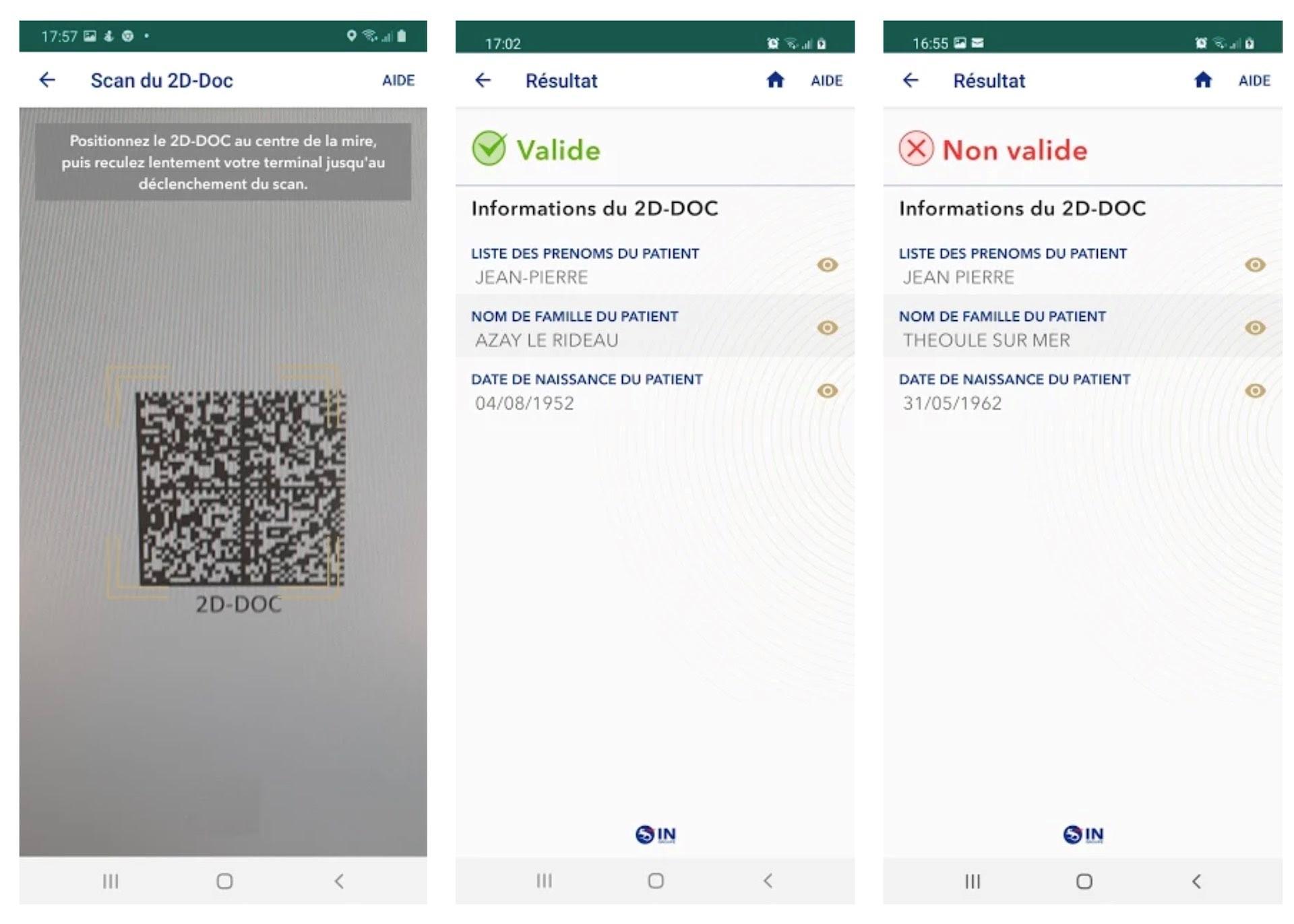Controle du pass sanitaire par l'employeur avec l'application TousAntiCovid Verif.